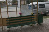 На место гибели женщины и девочки челябинцы несли цветы и игрушки.