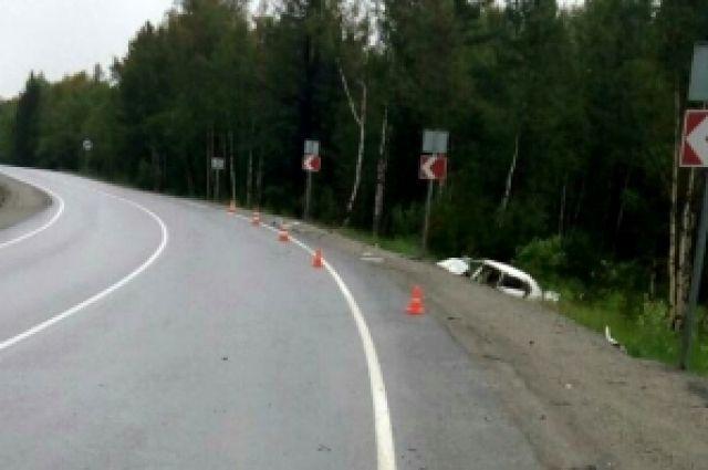 Водитель съехал в кювет, чтобы избежать столкновения.