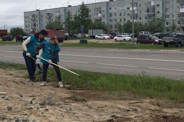 Ямальцы решили помочь коммунальщикам наводить порядок во дворах.