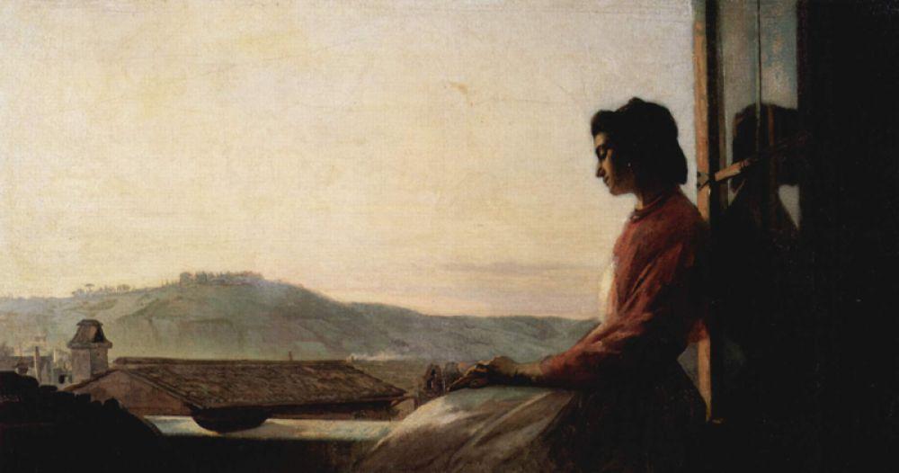 «Джованнина, сидящая на подоконнике», 1864 год.