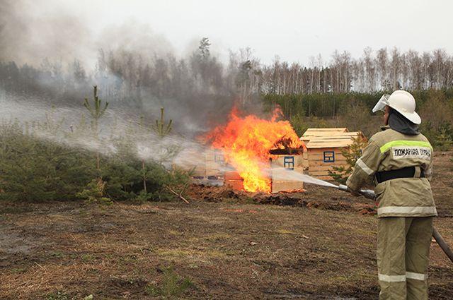 В Татарстане лесные пожары, к счастью, тушат только на учениях.