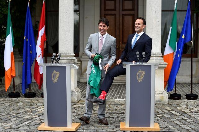 Ирландский премьер встретил Джастина Трюдо в носках с символами Канады - Real estate