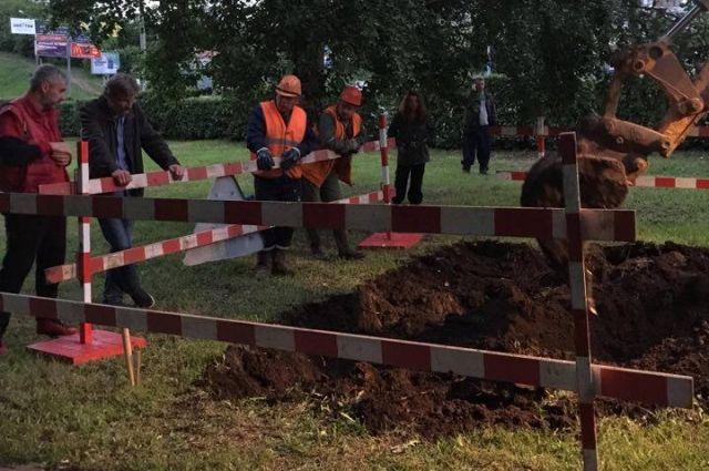 Раскопки начались вечером 5 июля.