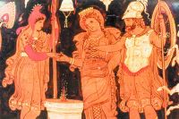 Рисунки на вазе рассказывают, как жили люди тысячелетия назад.