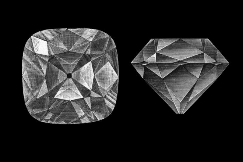 Один из самых известных алмазов в мире, «Регент», хранится в Лувре. 400-каратный камень был найден в 1701 году старателем-рабом на руднике, расположенном на берегу реки Кришны в районе приисков Голконды в Индии. Его вывез из Мадраса британский делец Томас Питт и продал регенту Филиппу II Орлеанскому — откуда и получил своё название. До революции находился в собственности Бурбонов и был одним из наиболее ценных камней в их ювелирном собрании.