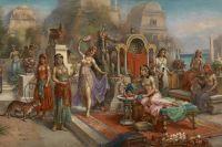 «Висячие сады Семирамиды», художник H. Waldeck.
