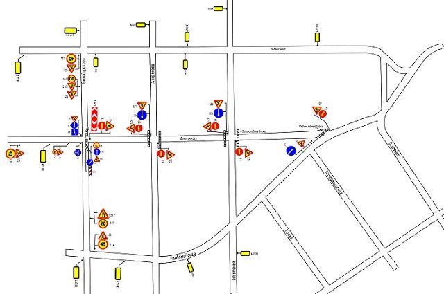 Схема: в Тюмени перекроют три участка по улице Дзержинского