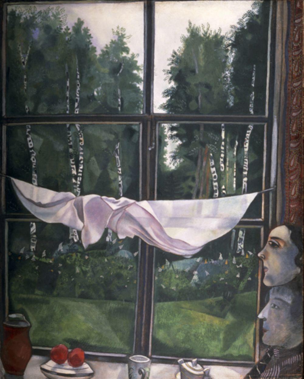 «Окно на даче», 1915 год.