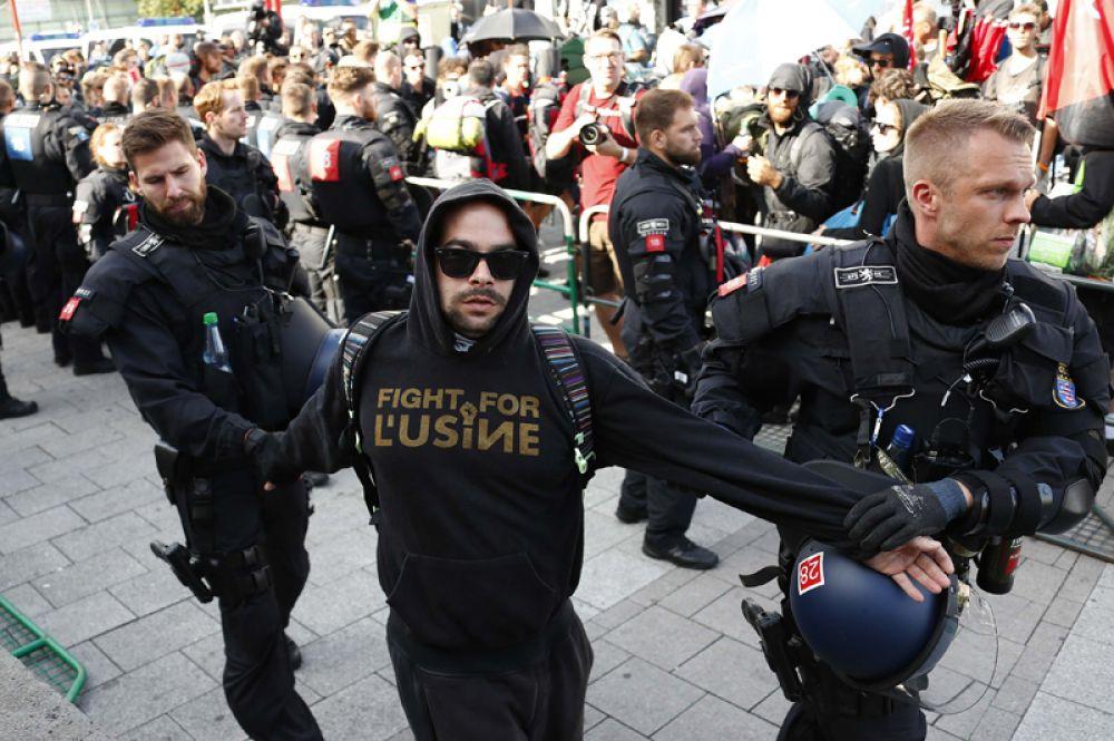 Задержанный на центральном железнодорожном вокзале Гамбурга.
