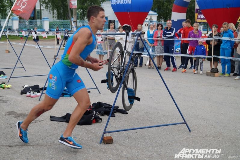 Участники траитлона соревновались в беге.