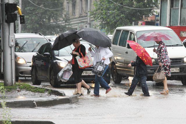 За сутки в Новосибирске выпало 50% месячной нормы осадков