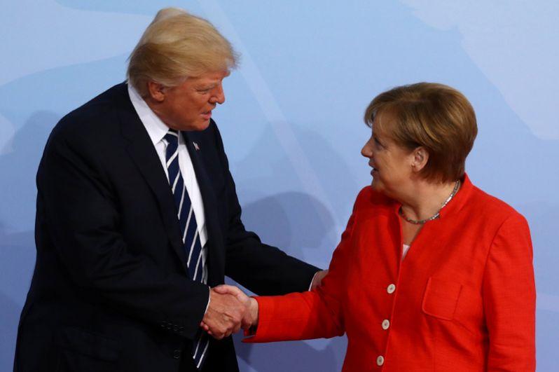 Ангела Меркель и Дональд Трамп.