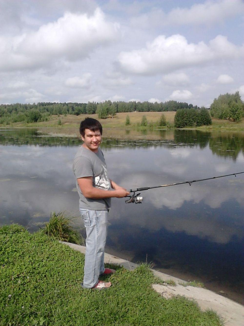 Рустем Хабибуллин на рыбалке в посёлке Шигали.