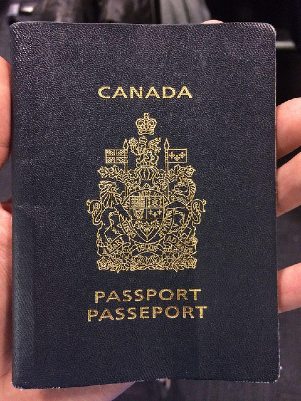 Канадский паспорт.