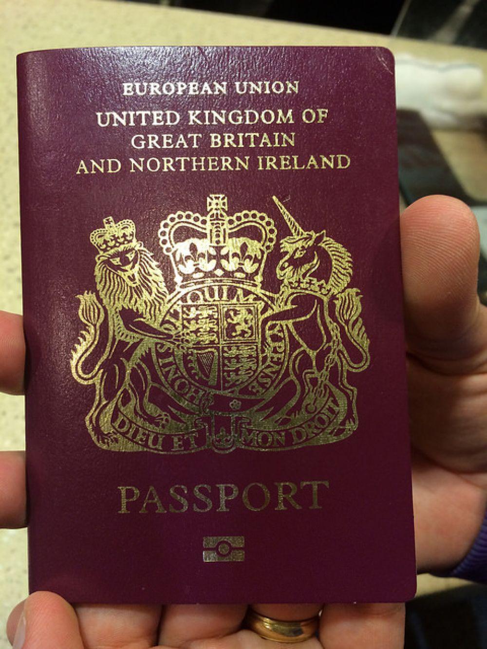Паспорт гражданина Великобритании.