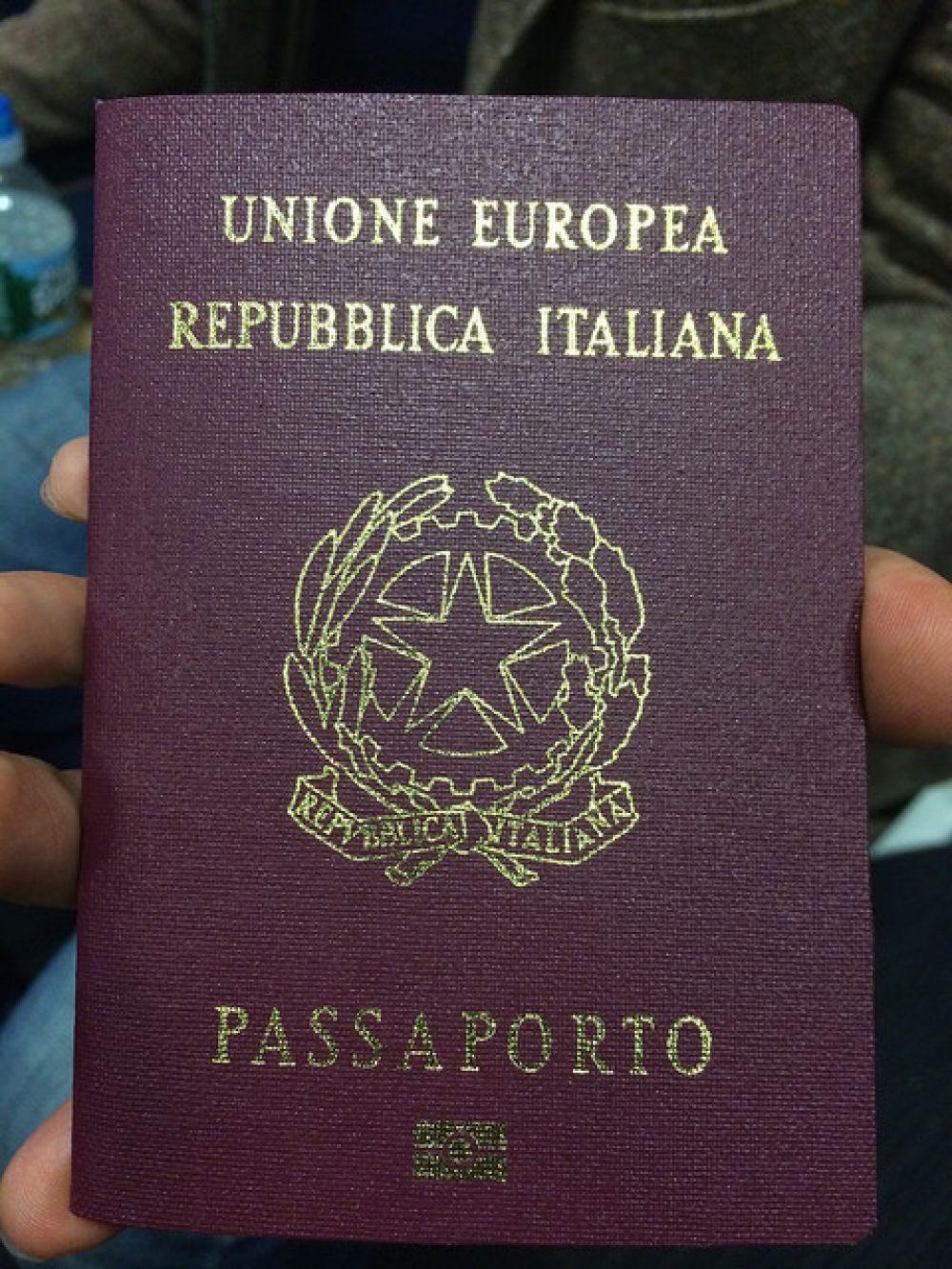 Итальянский паспорт.