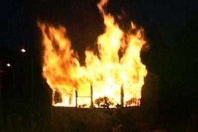 Возгорание произошло накануне вечером.