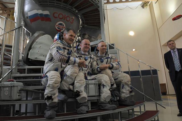 Члены основного экипажа экспедиции.