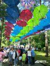 Ставшая уже традиционной аллея из зонтиков.