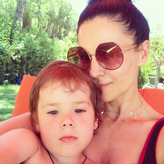 Маша Ефросинина с сыном
