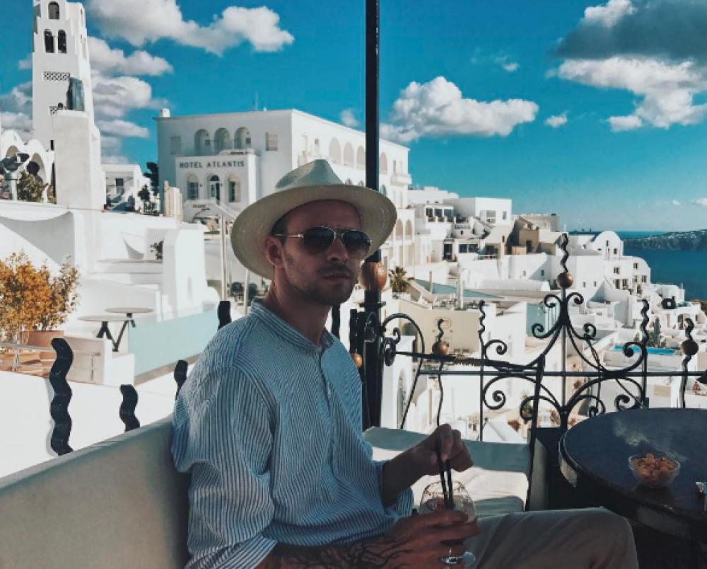 Макс Барских на отдыхе в Греции