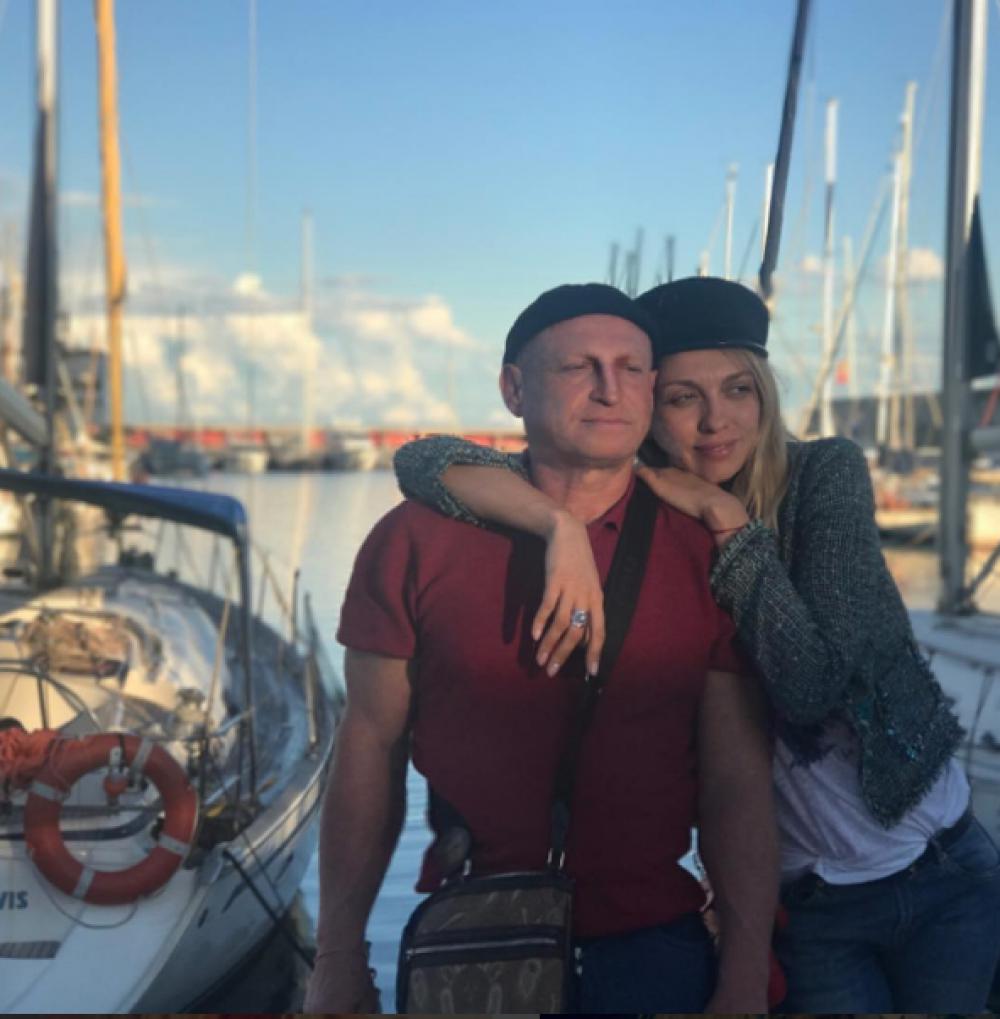 Ольга Полякова с супругом