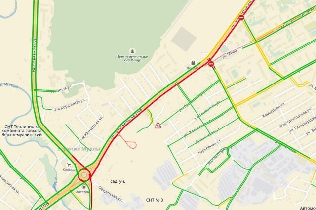 Загруженность участка дороги, где произошло ДТП, составляет 7 баллов.