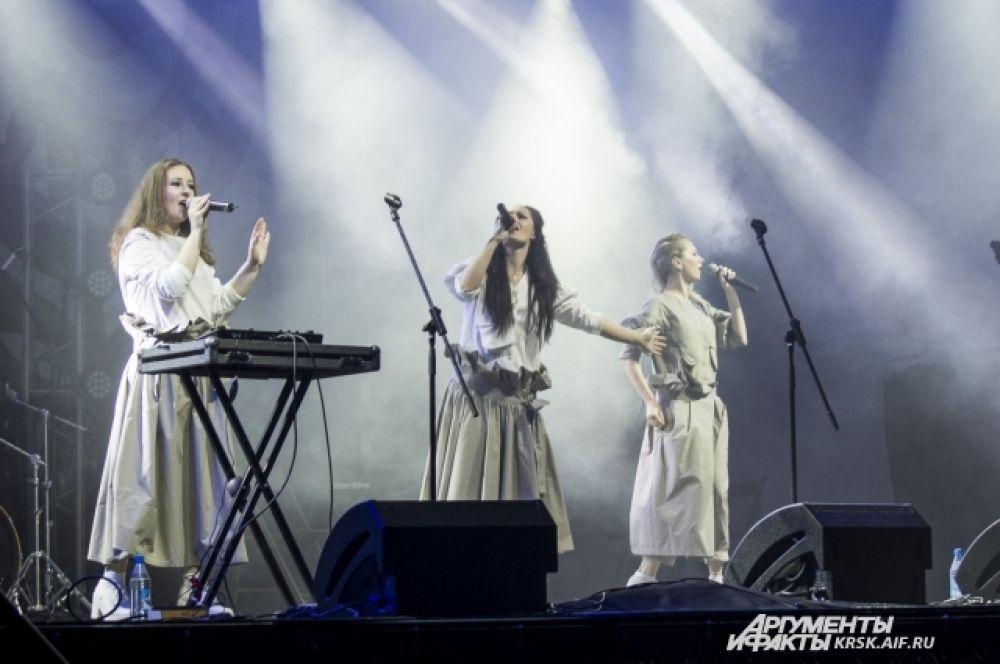 Исполнительницы московского трио «FolkBeat» считают «Татышев-ФЕСТ» одним из своих любимых фестивалей.