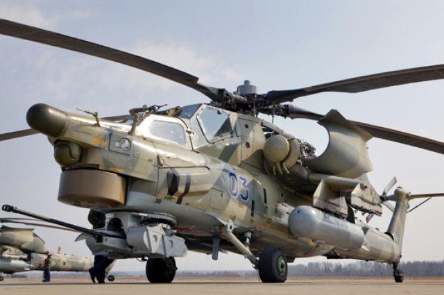 Неменее 20 вертолетов армейской авиации задействовано вучениях наСтаврополье