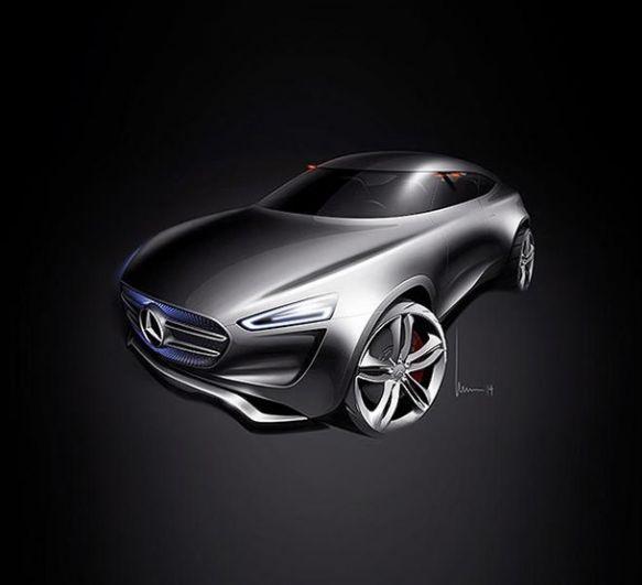 Mercedes-Benz G-Code. Корпус машины покрыт специальной краской, которая способна поглощать солнечное тепло и конвертировать его в энергию для движения транспорта