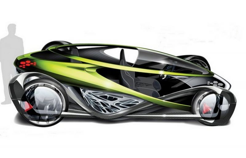 Toyota Nori. Название получила в честь водорослей, а выглядит совсем как жук на колесах. В конструкцию авто добавлена система солнечных батарей.