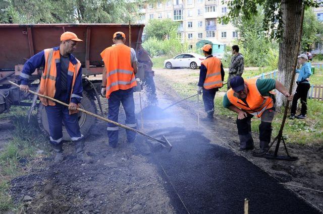 В Омске отремонтировали 144 тротуара и межквартальных проезда.