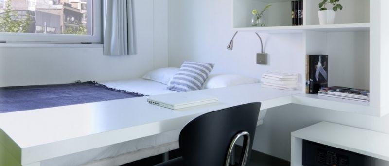 В Испании комнату в общежитии обычно делят максимум двое людей. К тому же личное пространство оборудовано всем необходимым, в том числе и ванной