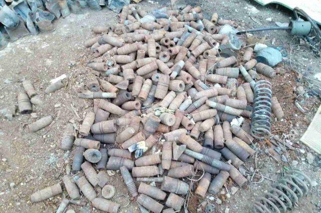 В пункт приема металлолома в Калининграде сдали снаряды времен ВОВ.