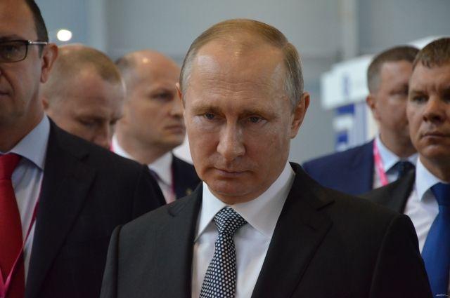 В выставке принял участие президент России Владимир Путин.