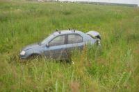 Автомобиль оказался в кювете