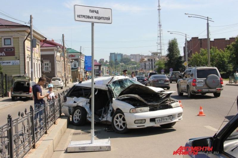 Семь человек погибли в ДТП с нетрезвыми водителями вИркутске только с начала года.