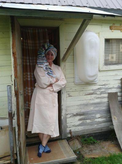 Маргарита Петрова после бани на даче.