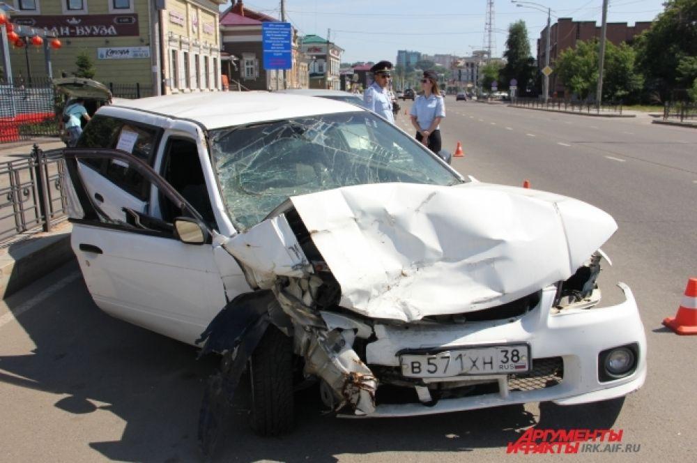«Парад нетрезвых водителей» разместился в центре Иркутска.