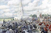 """Картина художника Эрнеста Лисснера """"Медный бунт в Москве.""""1662 год. Музей истории и реконструкции Москвы."""
