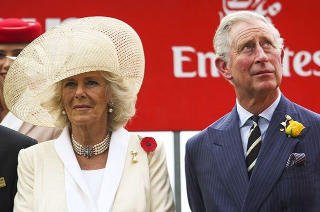 Камилла Паркер-Боулз и принц Чарльз.