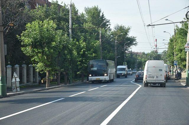 В Пензе продолжается ремонт дорог.