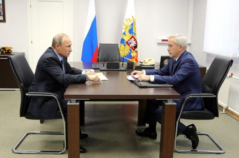 Владимир Путин провел рабочую встречу с главой региона Евгением Савченко