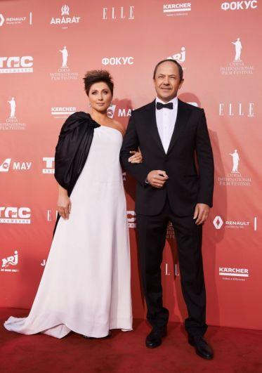 Президент фестиваля Виктория Тигипко вместе со своим супругом Сергеем Тигипко