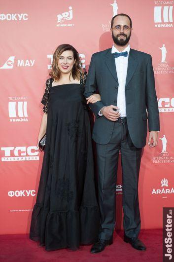Генеральный продюсер Одесского международного кинофестиваля Юлия Синькевич с мужем