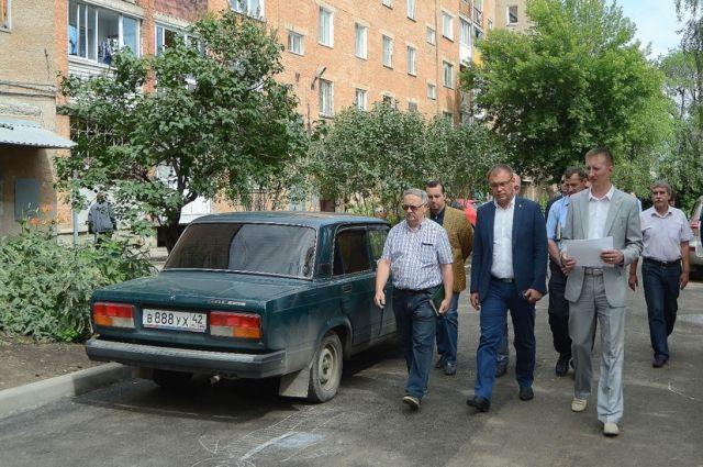 В Кемерове продолжается ремонт дворовых территорий.