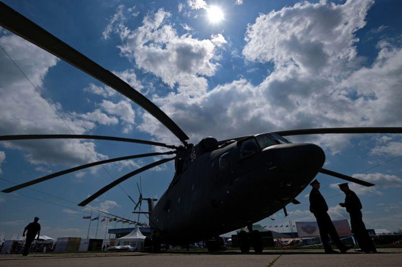 Вертолёт МИ-26 на Международном авиационно-космическом салоне МАКС-2017 в Жуковском.