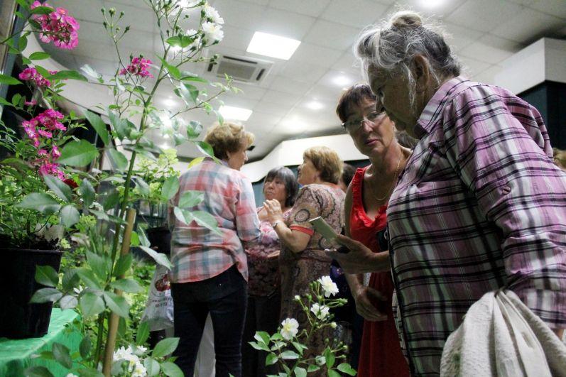 Посетители пришли на выставку полюбоваться цветами и получить конкусльтацию по уходу за растениями.