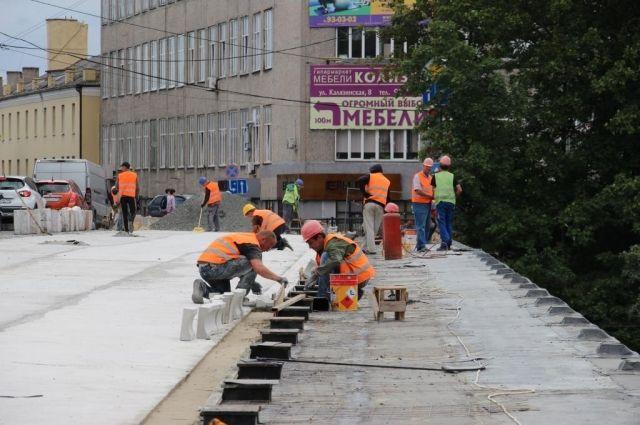 Путепровод на Озерова в Калининграде хотят открыть к 4 августа.