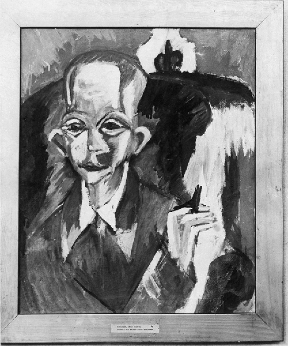 Эрнст Людвиг Кирхнер «Портрет художника Оскара Шлеммера».